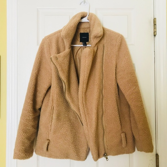 special promotion shop for authentic best selection of Forever 21 Teddy Bear Warm Fleece Coat